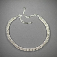 "Sterling Silver Foxtail Necklace, Legnth ""18-22"" $150"