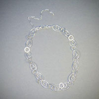"Sterling Silver Chain, Length 15 1/2""-20"" $48"