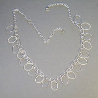"Sterling Silver Chain, Length 17""-21"" $64"