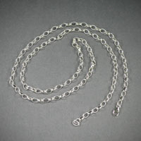 "Sterling Silver Chain, Length 30"" Ch#sd001, $48"