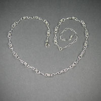 "Sterling Silver Chain, Length 18""-22"" ch#sd006, $54"
