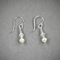 Sterling Silver Fresh Water Pearl & Crystal