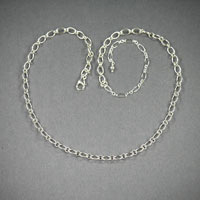 "Sterling Silver Chain, Length 18""-22"" ch#sd002, $38"