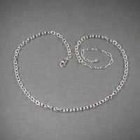 "Sterling Silver Chain, Length 18"" ch#sd003, $54"