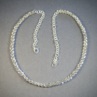 "Sterling Silver Jens Pind Necklace Length 17 1/2""-21 1/2"" $150"
