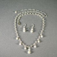 "Sterling Silver Freshwater Pearl Set 16""-20"" $54"