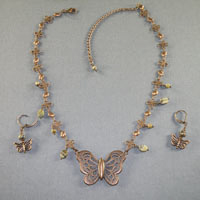 Antique Copper Butterfly Red Creek Jasper $38