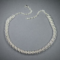 "Sterling Silver Unparalleled Necklace Length 18""-22"" $190"