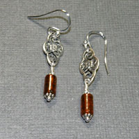 Sterling Silver Baltic Amber Earrings $24