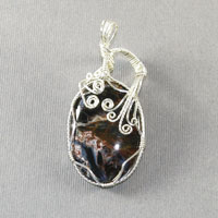 Sterling Silver Pietersite Pendent $48
