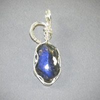 Sterling Silver Labradorite Pendent $40