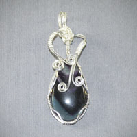 Sterling Silver Fluorite Pendent $34
