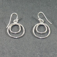 Sterling Silver Double Loop Earring (16gaSS) $30.00