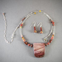 "Sterling Silver Moukaite, Length 21""-25"" $40"