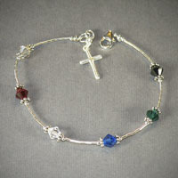 Sterling Silver Salvation Bracelet (you choose length) $28