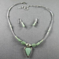 "Sterling Silver Aventurine Length 16-20"" $40"