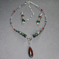 "Sterling Silver 16-20"" Sonoran Sunset Necklace and Earrings $38"