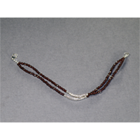 "Sterling Silver 8"" Faceted Garnet Bracelet $28"