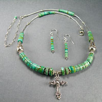Sterling Silver Green Turquoise