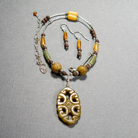 "Sterling Silver Carved Jade 16""-20"" $40"