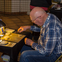 Bryan Creating Custom Chainmaille Bracelets at the Art Prowl in Cookeville, TN, November 2016.